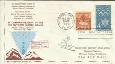 OLYMPIC WINTER GAMES - United States Rocket MAIL-#29C1-Rocket#1, scarce