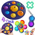 4Pack/Set Sensory Fidget Toy Simple Dimple Bubble Board Stress Relief Autism Kid