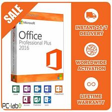 ORIGINAL OFFICE PROFESSIONAL PLUS 2016 32 /64BIT LICENSE KEY SCRAP PC