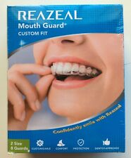 Reazeal Mouth Guard for Teeth Grinding, Athletic Mouth Guard, Teething White NEW