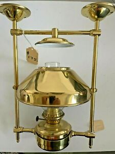 """New Weems & Plath DHR Brass Nautical Ceiling Oil Lamp Ships Boat Sea 7""""x11""""x13+"""""""