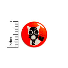 """Apocalypse Cat Gas Mask Cool Rad Funny Nerdy Meow Backpack Jacket Pin 1"""" #37-25"""