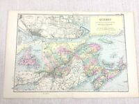 1892 Antique Map of Quebec Canada Montreal City Street Plan G W Bacon