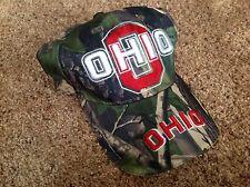 Ohio State Buckeyes Dark Green, Tan And Tree Bark/Leaf Camo Baseball Hat