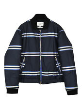 NEW Baartmans and Siegel striped quilted bomber jacket