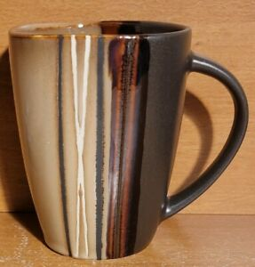 "Better Homes / Home Trends BAZAAR BROWN Mug, 14 oz / 4 1/2"", Excellent"