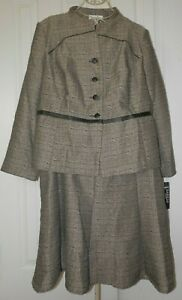 New women's DANILLO MISSY 2-piece Skirt Jacket Suit 22 W