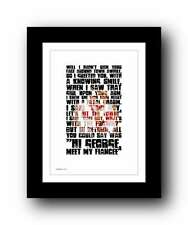 More details for george michael ❤ young guns ❤ wham! typography lyrics poster art print #39