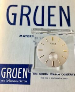 Vintage Gruen 510 sub seconds watch dial gold markers 29mm NOS 1950s/60s part