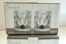 New Shannon Crystal #28649 Serenade Crystal Votive Candle Holder LOT OF 3
