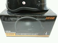 Fuel Gloss Black Half Motorcycle Helmet Size Large