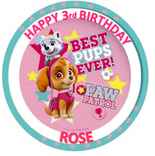 PAW PATROL GIRL BIRTHDAY Personalised Edible Icing Cake Topper Decoration Images
