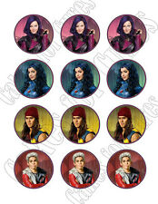 Disney Descendants edible party cupcake toppers cupcake image sheet