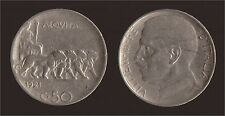 50 CENTESIMI 1921 LEONI RIGATO - VITTORIO EMANUELE III