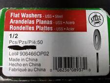 "50 Zinc steel Flat Washers 1/2"""