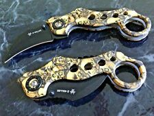 """8"""" ZOMBIE KILLER KARAMBIT CLAW BLADE SPRING ASSISTED OPEN FOLDING POCKET KNIFE"""