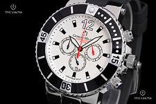 "Giorgio Milano ""Leonardo"" White Dial Quartz Chronograph Silicone Strap Watch"