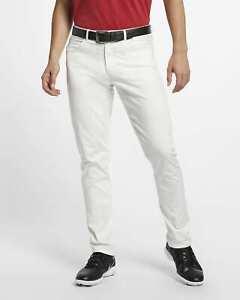 Nike Men's Slim Fit Flex Dri-Fit 6 Pocket Golf Pants, Brand New with Tags, White