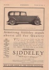 RF2034 1935 35 Armstrong Siddeley Vtg The AutoCar Magazine Ad