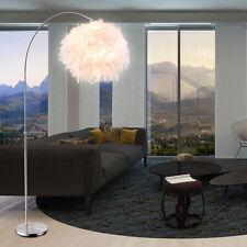 FEDER Bogen Stand Leuchte Schalter Beleuchtung Weiß Steh Lampe Höhen-Verstellbar