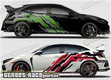 Honda Civic Rally 004 racing motorsport graphics stickers decals vinyl