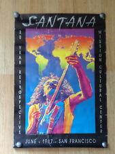 Santana -original poster for 20 year retrospective  San Francisco June 1987