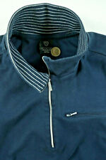 Nike Golf Jacket Large Half Zip Cotton Pullover Navy Blue Running Track Sport