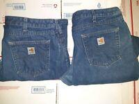 (2)Carhartt Women's FR FLAME RESISTANT Jeans SZ 16X32 GOOD HRC2 ATPV16.0 14806