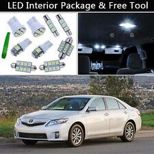 12PCS White LED Interior Car Lights Package kit Fit 2007-2011 Toyota Camry J1