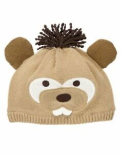 Gymboree Camp Yosemite Beige Beaver Sweater Hat Boys 4T-5T NEW NWT