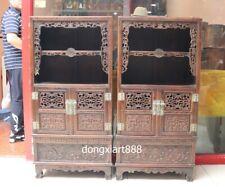 110 cm China White acid branch wood Handwork auspicious Dragon cabinet cupboard