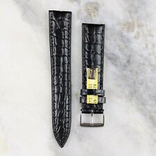Genuine Louisiana Alligator Leather Watch Strap - Black - 18mm/20mm