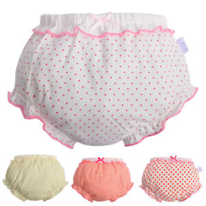 Toddler Baby Girls Frill Potty Training Pants Underwear Panties Brief 0-8 Year