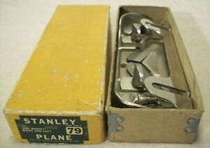 1940's~STANLEY TOOLS~R & L SIDE RABBET PLANE No. 79~NEAR MINT COND. IN ORIG. BOX