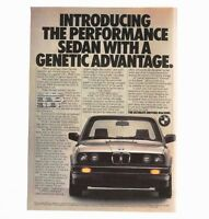 1983 BMW 318i Advertisement Genetic Performance Photo Car Print AD