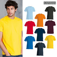 Kariban Men's Short Sleeve Crew Neck T-Shirt (K356) - Adult Casual Plain Tee