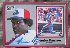 RARE 1983 DONRUSS ANDRE DAWSON AUTOGRAPHED 3x5 CARD MONTREAL EXPOS