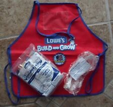 Lot Lowes Build and Grow Kit Waving Flag with Goggles,Apron, And Patch Free Ship