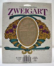 "Zweigart Dublin 25 Count Cross Stitch Fabric Raw Linen 14""x18"" New Old Stock"
