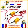 2 x Résistance Anti Erreur Module 25W 6ohm LED Clignotants Phare Feux Voiture