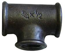3/4 x 3/4 x 1/2 Pollici BSP malleabile ferro nero Riduzione Tee