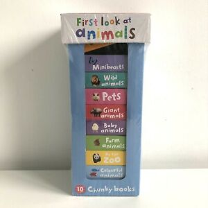 Baby & Toddler 10 Book Box Set First Look At Animals 10 Chunky Books New Sealed