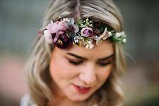 10-13 guirnalda de flores flores pelo joyas novia boda Wedding hairdress Boho