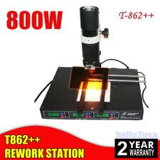 T862++ INFRARED BGA REWORK STATION SMD SMT IRDA  SOLDERING WELDER MACHINE 800W
