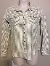 (NWT) Roxy August Squary Cool Plaid Button Down Long Sleeve Top Size M