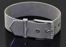 Uno-A-Erre heavy 18K WG 0.28CT VS1/F diamond 18mm wide belt buckle bracelet
