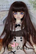 Bjd Wig 1/3 8-9 Dal Pullip BJD SD LUTS DOD DOC DD Dollfie Doll wigs dark brown