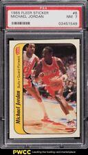 1986 Fleer Sticker Michael Jordan ROOKIE RC #8 PSA 7 NRMT