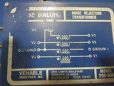 BODE BALUN,  MODEL 200-009, NOISE REJECTION XFMR