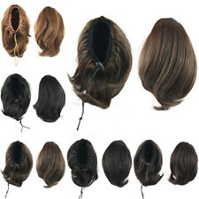 Fashion Women Ponytail Hair Bun Extensions Drawstring Synthetic Fluffy Hairpiece